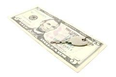 pengar under bordet till Royaltyfri Foto