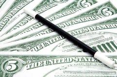 Pengar vid magisk konst fotografering för bildbyråer