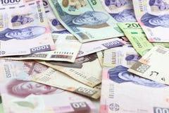 Pengarbakgrund Royaltyfria Foton