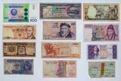 Pengarbakgrund, Closeup på gammal sedelsamling royaltyfria bilder