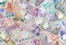 Pengarbakgrund, Closeup på sedelsamling royaltyfri foto