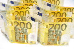 Pengarbakgrund för Euro 200. Arkivbilder