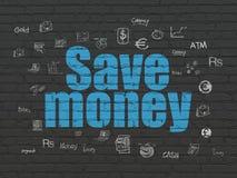 Pengarbegrepp: Spara pengar på väggbakgrund Arkivfoton