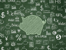 Pengarbegrepp: Sparbössa på skolförvaltningbakgrund Arkivbild