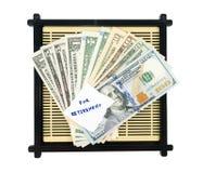 Pengarbesparing för avgång Royaltyfria Foton