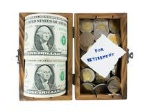 Pengarbesparing för avgång Arkivbilder