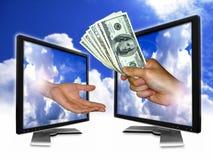 pengarbetalningsky Arkivfoton