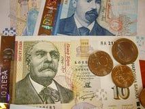 PengarBulgarien Papper och en encentmynt Royaltyfria Foton