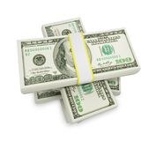 Pengarbunt på vit Royaltyfri Foto