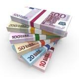 Pengarbuntar av euro vektor illustrationer