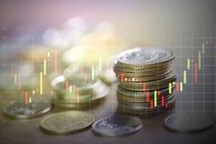 Pengarbuntar och stearinljuspinnediagram Royaltyfri Fotografi