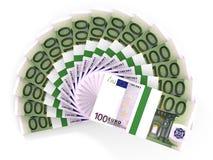 Pengarfan euros hundra en Royaltyfri Bild
