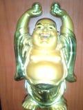 Pengargud i tempel Royaltyfri Foto