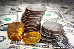 Pengarhög Fotografering för Bildbyråer