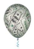 Pengarinvesteringbegrepp med ballongen Arkivbilder
