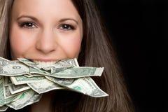 pengarkvinna fotografering för bildbyråer