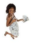 pengarkvinna Royaltyfri Bild