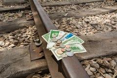 Pengarlopp, överföring, kollektivtrafikinvestering Royaltyfri Bild