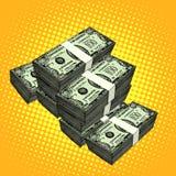 Pengarpacke av dollar Arkivbild