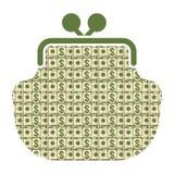 Pengarplånboksymbol vektor illustrationer