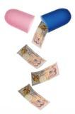 Pengarpreventivpiller Arkivbild