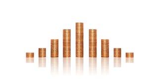 Pengarpyramid Arkivfoto