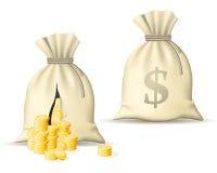 pengarsäck stock illustrationer