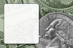 pengarsamtal Arkivbild
