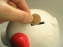 pengarsparande för euro 2 Royaltyfri Fotografi