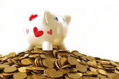 pengarsparande för högst nivå Arkivbilder