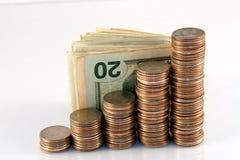 pengarstapel arkivfoto