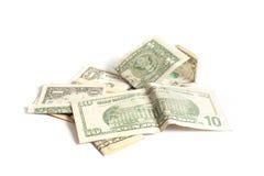 pengarstapel arkivbild