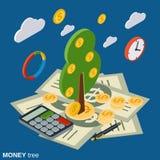 Pengarträd, investering, tillväxtvektorbegrepp vektor illustrationer