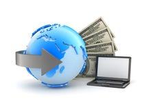 Pengartransaktioner - begreppsillustration Arkivbild