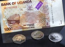 PengarUganda bakgrund arkivfoto