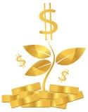 Pengarväxt stock illustrationer