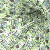 Pengarvirvel av 200 räkningar för danska kroner royaltyfri fotografi