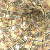 Pengarvirvel av 50 räkningar för svensk kr Royaltyfri Foto