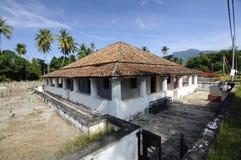 Pengkalan Kakap老清真寺在Merbok,吉打 免版税图库摄影