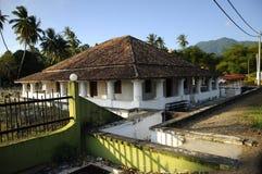 Pengkalan Kakap老清真寺在Merbok,吉打 免版税库存图片