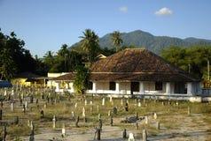 Pengkalan Kakap老清真寺在Merbok,吉打 库存照片