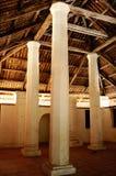Pengkalan Kakap老清真寺的内部在Merbok,吉打 库存图片