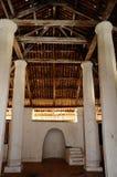 Pengkalan Kakap老清真寺的内部在Merbok,吉打 库存照片