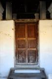 Pengkalan Kakap老清真寺的门在Merbok,吉打 库存照片