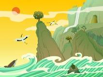 Penglai, νησί του Immortals ελεύθερη απεικόνιση δικαιώματος