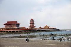 Penglai miasta, Shandong prowincja, Penglai miasto Zdjęcia Royalty Free