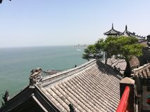 Penglai pavilion of China. Penglai pavilion is a tourist attraction in shandong, China Royalty Free Stock Image