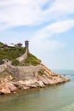 Penglai Pavillon cerca de Yantai, China Fotos de archivo libres de regalías