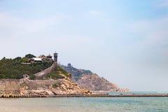 Penglai Pavillon cerca de Yantai, China Foto de archivo libre de regalías