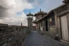 Penglai Penglai Pavilion and drenched floor Shandong Penglai Pavilion Royalty Free Stock Photo